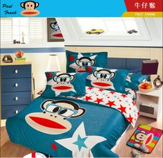 2014 Best Kids Cotton Bedding Sets 4pcs Cartoon Bedding set Cotton include Duvet Cover Bed sheet Pillowcase Cotton Bedding Sets, Linen Bedding, Paul Frank, Bed Sheets, Cool Kids, Duvet Covers, Pillow Cases, Kids Rugs, Cartoon