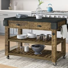 Get inspired by Rustic Kitchen Design photo by Wayfair. Wayfair lets you find the designer products in the photo and get ideas from thousands of other Rustic Kitchen Design photos. Refacing Kitchen Cabinets, Kitchen Countertops, Cabinet Refacing, Rustic Cabinets, Antique Cabinets, Granite Kitchen, Kitchen Cupboards, Kitchen Island Panels, Kitchen Islands