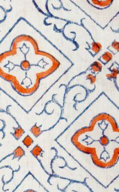 block printed moroccan fabric.