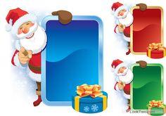 Free Amusing Christmas Santa Claus elements vector set 02  vector download