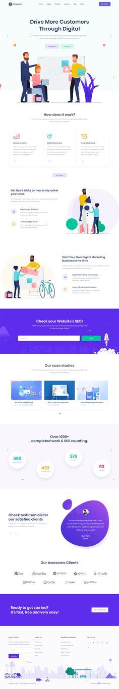 MultiPurpose WordPress Theme for Saas Startup Software Business Flat Web Design, App Ui Design, User Interface Design, Page Design, Modern Design, Website Layout, Web Layout, Layout Design, Landing Page Inspiration