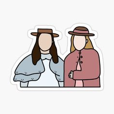 "Pegatina «Diana y Ruby Drawing (Fan Art de Netflix) ""Anne con una"" E "" Tumblr Stickers, Cute Stickers, Cute Wallpaper Backgrounds, Cute Wallpapers, Riverdale Wallpaper Iphone, Cactus Vector, Anne White, Bullet Journal Banner, Anne With An E"