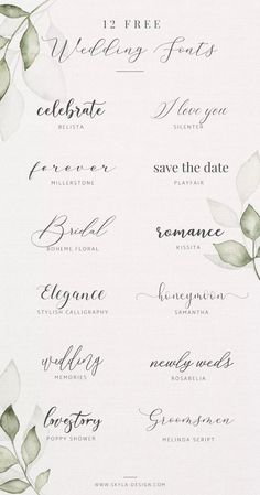 Free Wedding Fonts Posted by Skyla Design Fonts - Design - Free wedding fonts Posted by Skyla Design Fonts Free wedding fonts Posted by Skyla Design Fonts Fre - Wedding Invitation Fonts, Wedding Fonts Free, Wedding Calligraphy Fonts, Invitation Cards, Wedding Logos, Wedding Script Font, Calligraphy Wedding Invitations, Modern Wedding Invitation Wording, Free Wedding Templates