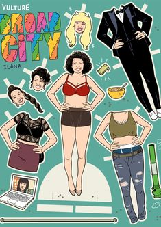 Broad City Paper Dolls: Ilana