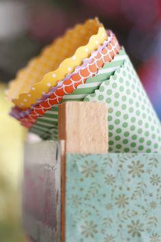 conos de papel para las chuches de regalo