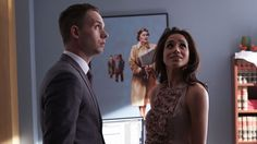 Patrick J. Adams as Mike Ross and Meghan Markle as Rachel Zane in Suits