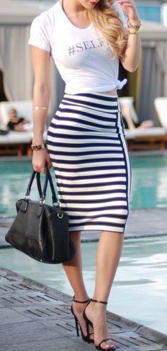 street style / pencil skirt