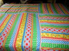 Vintage Handmade Flowered Stripe by JewelsOfHighElegance on Etsy, $8.75