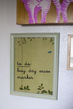Tutorial: dry-erase board