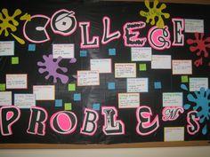 College Problems Bulletin Board