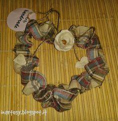 ❤ Ghirlande fuoriporta in tessuto scozzese  ❤