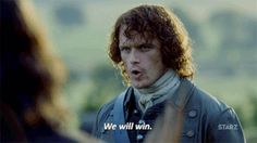 we will win sam heughan GIF by Outlander