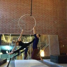 The best way to spend a rainy Hump day in LA  #aerialhoop #womackandbowman
