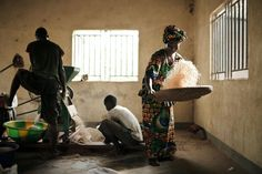 jonas bendiksen.....guinea douprou the last step of rice processing