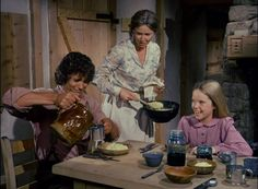 The Ingalls family has breakfast in the Love of Johnny Johnson episode.