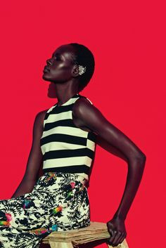 Ajak Deng by Julia Noni for Neiman Marcus March 2015 11