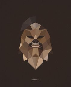 Star Wars Character Illustrations by Tim Lautensack, via Behance gotta try attempting th geometric shapes