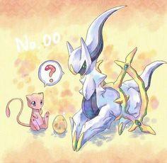 Arceus and mew - Poke Ball Mew And Mewtwo, Pokemon Mewtwo, Pokemon Comics, Anime Comics, Old Pokemon, Pokemon Dolls, Pokemon Fan Art, Pokemon Funny, Pokemon Stuff