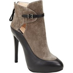 Giorgio Armani Strap Detail Platform Ankle Boot - yes please! Platform Ankle Boots, High Heel Boots, Bootie Boots, Heeled Boots, Ankle Booties, Grey Booties, High Heels, Pretty Shoes, Beautiful Shoes
