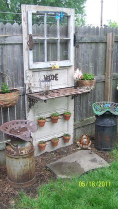 .You can do amazing things with old windows & doors.