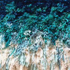 Furry mint dreams // Handwoven Tapestry Wall hanging by jujujust
