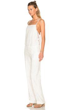 No. 21 Jumpsuit in White | FWRD
