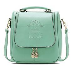 Catkit Fashion Womens Multifunction Shield Design Tote Handbag Shoulder Bag Backpack Green