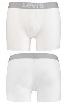 Levis Plain Cotton Boxer Shorts In White  £20.99