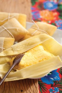 Pamonha, a candy made of corn - Minas Gerais, Brazil.