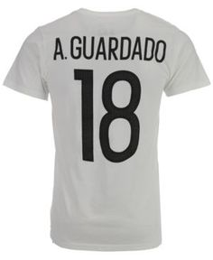 135d79e5d adidas Men s Andres Guardado Mexico National Team Jersey Hook Player T-Shirt  - White XXL