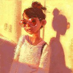 Sunset  #cartoon #digitalart #art #drawing #draw #girl #sunset #cartoon #sketch #portrait #desenho #illustration #draw #digitalprinting #painting #doodle #model