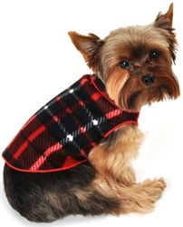 Blanket Plaid Fleece Pullover- Apparel - Pullover Posh Puppy Boutique