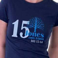 What a fun way to incorporate the year into a family reunion t-shirt design.