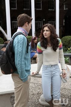 """The Carrie Diaries -- """"Pilot"""" -- Pictured (L-R): Brendan Dooling as Walt and Katie Findlay as Maggie — Image Number: CD100C_0142b.jpg — Photo: Giovanni Rufino/The CW -- © The CW Network, LLC. All rights reserved."""