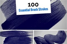 100 Essential Brush Strokes by SparkleStock on Creative Market