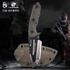 HX OUTDOORS - fixed blade tactical knives with sheath,Tanto Blade outdoor survival knife,Special forces tactical knife,Ergonomics anti-skidding Handle MERCENARIES - MINI - Warehouse Wise Tactical Survival, Tactical Knives, Survival Knife, Survival Gear, Tactical Gear, Survival Skills, Survival Prepping, D2 Steel, Throwing Knives