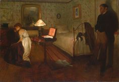 "lionofchaeronea: "" Interior, Edgar Degas, 1868-69 "" This painting is also known as ""The Rape""…"