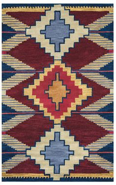 Rizzy Home Southwest SU9010 Multi-Colored Southwest/Tribal Area Rug