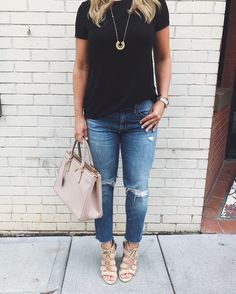 Casual girls' night outfit from The Southern Style Guide - A Carolina based lifestyle blog by Cristin Cooper