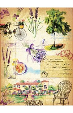 Papier Ryżowy Cadence 036 Prowansja Papier ryżowy Cadence - sklep DecoupageArt.pl