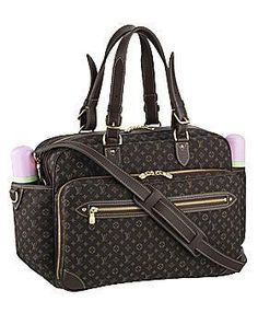 The Louis Vuitton Monogram Mini Lin diaper bag has all the features to make it as convenient as it is classy. The bag is made of grained calf leather with brass hardware and an adjustable, removable shoulder strap. It includes a washable changing mat, address holder, key ring holder, two baby bottle pockets and a bevy of additional pockets and compartments. It is, of course, decorated with the price-inflating LV monogram.    The designer diaper bag has been sold for up to $2200.