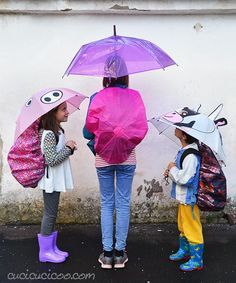 Upcycled Umbrellas Backpack Rain Covers | This back to school sewing project is completely genius!