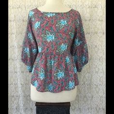 I just discovered this while shopping on Poshmark: Pink & Blue Paisley…