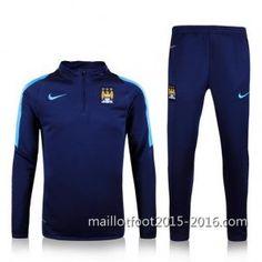Acheter maillot de foot pas cher chine 2016: Veste foot Manchester City 2015-2016 la plus compl...
