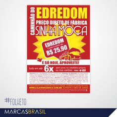 Folheto – Sinhá Moça > Desenvolvimento de folheto para as lojas Sinhá Moça < #folheto #marcasbrasil #agenciamkt #publicidadeamericana