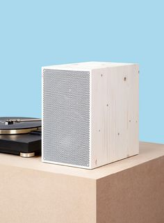 Beautiful NW3 speaker, fromneue Werkstatt, with natural wood chassis, handmade by German carpenters in locally sourced wood, and powder coa...