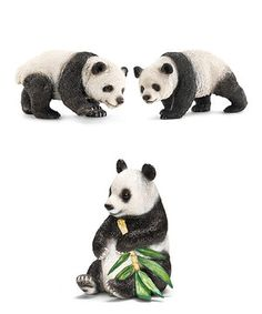 This Panda Family Figurine Set by Schleich is perfect! #zulilyfinds