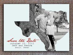 Printable Texas Save the Date Invitation - kitsyco.com