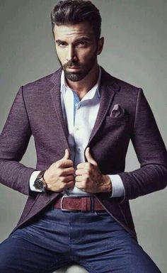 How to Wear a Purple Blazer For Men looks & outfits) Mens Fashion Blog, Fashion Mode, Fashion Trends, Fashion 2015, Fashion Updates, Fashion Images, Fashion Ideas, Fashion Menswear, Fashion Suits
