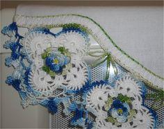 barrado de croche com flores - Pesquisa Google